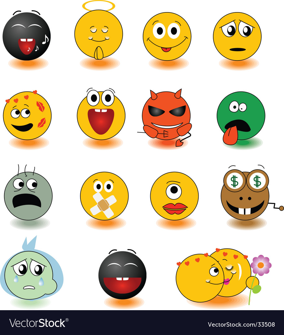 Yellow smiles vector | Price: 1 Credit (USD $1)