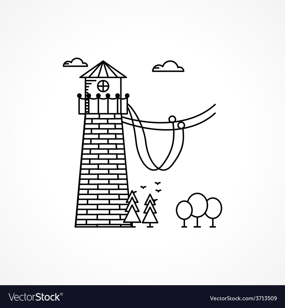 Black icon for rope jumping tower vector | Price: 1 Credit (USD $1)