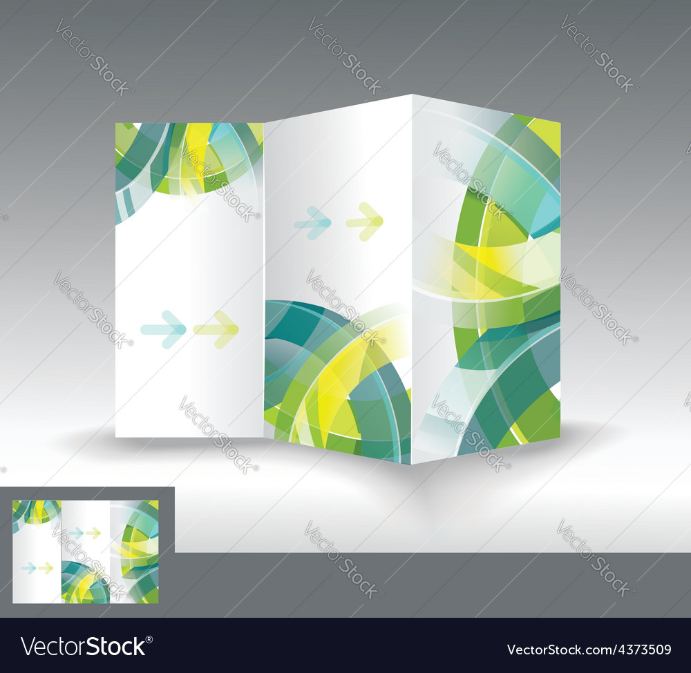 Brochure template design with 3d glass circles vector | Price: 1 Credit (USD $1)