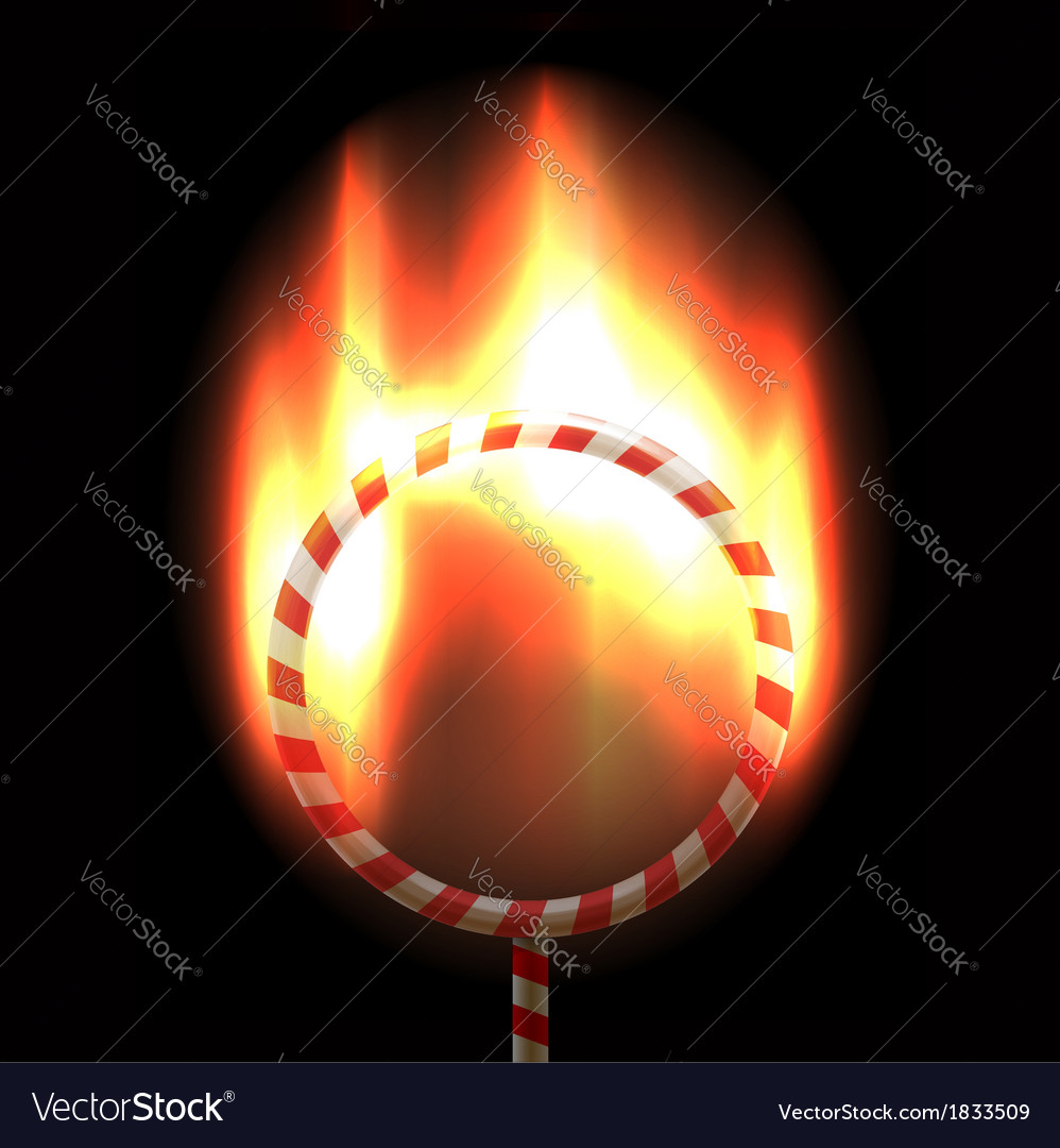 Burning circus hoop vector | Price:  Credit (USD $)