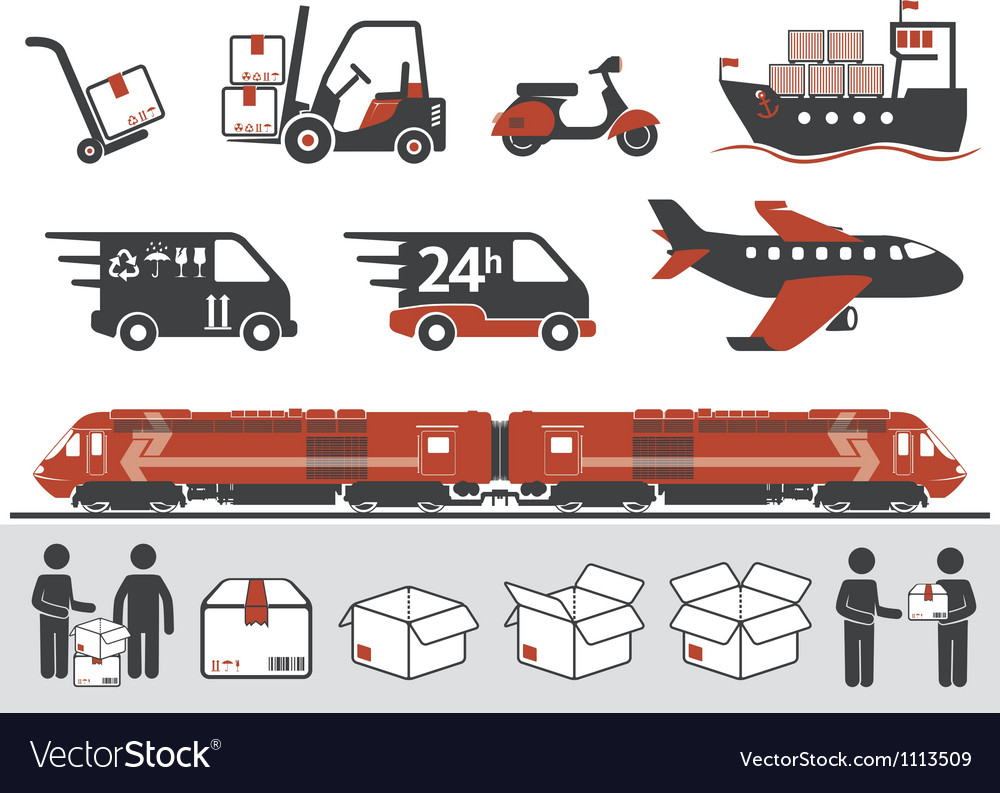 Cargo transportation vector | Price: 1 Credit (USD $1)