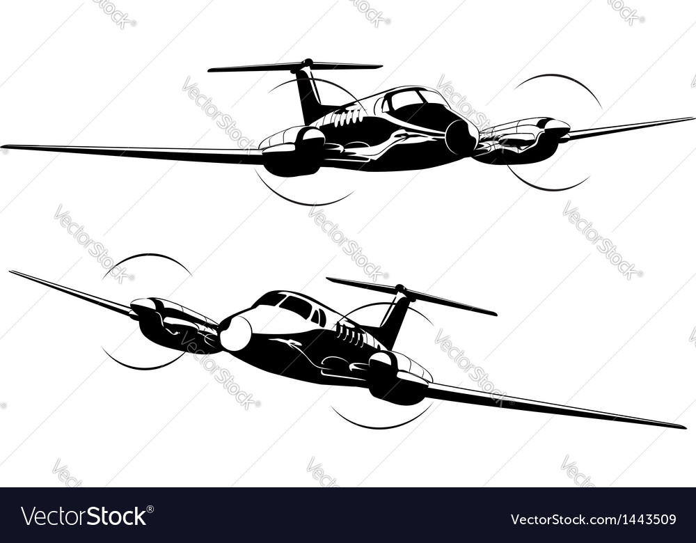 Civil utility aircraft vector | Price: 1 Credit (USD $1)