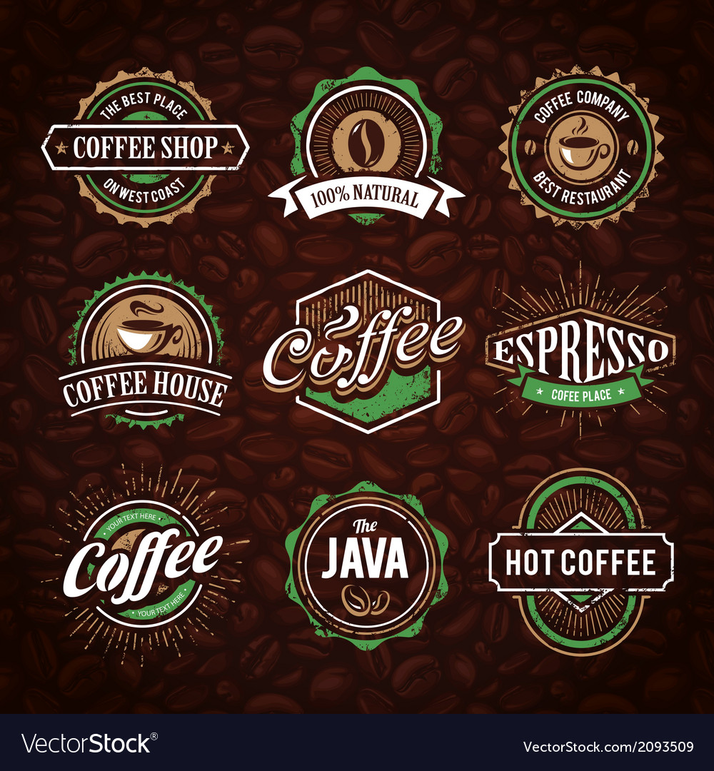Coffee shop emblems 1 vector | Price: 1 Credit (USD $1)
