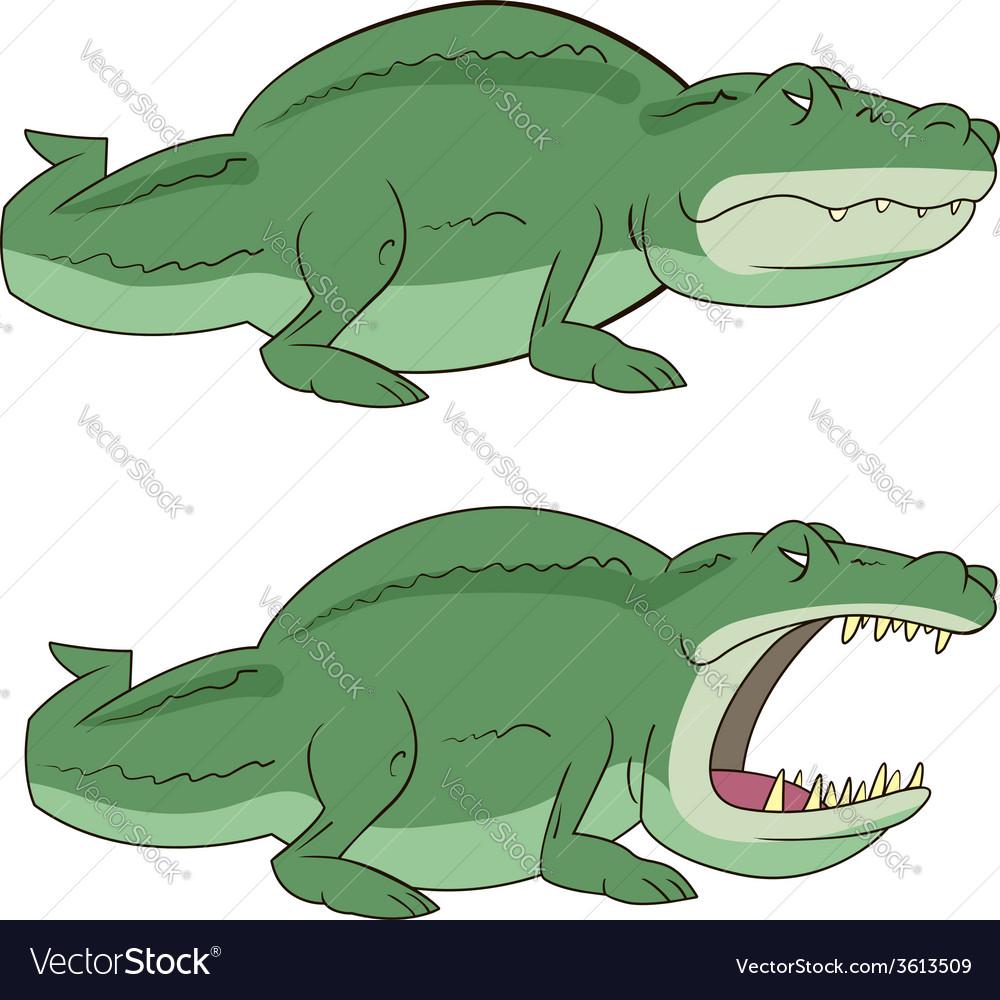 Crocodile alligator vector | Price: 1 Credit (USD $1)