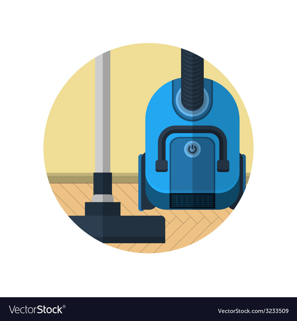 Flat icon for vacuum cleaner in room vector | Price: 1 Credit (USD $1)