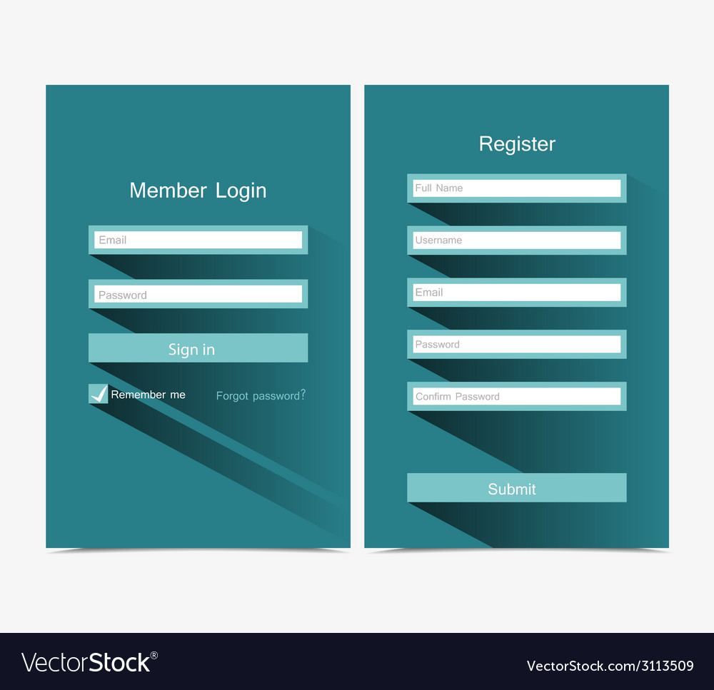 Forms login vector | Price: 1 Credit (USD $1)