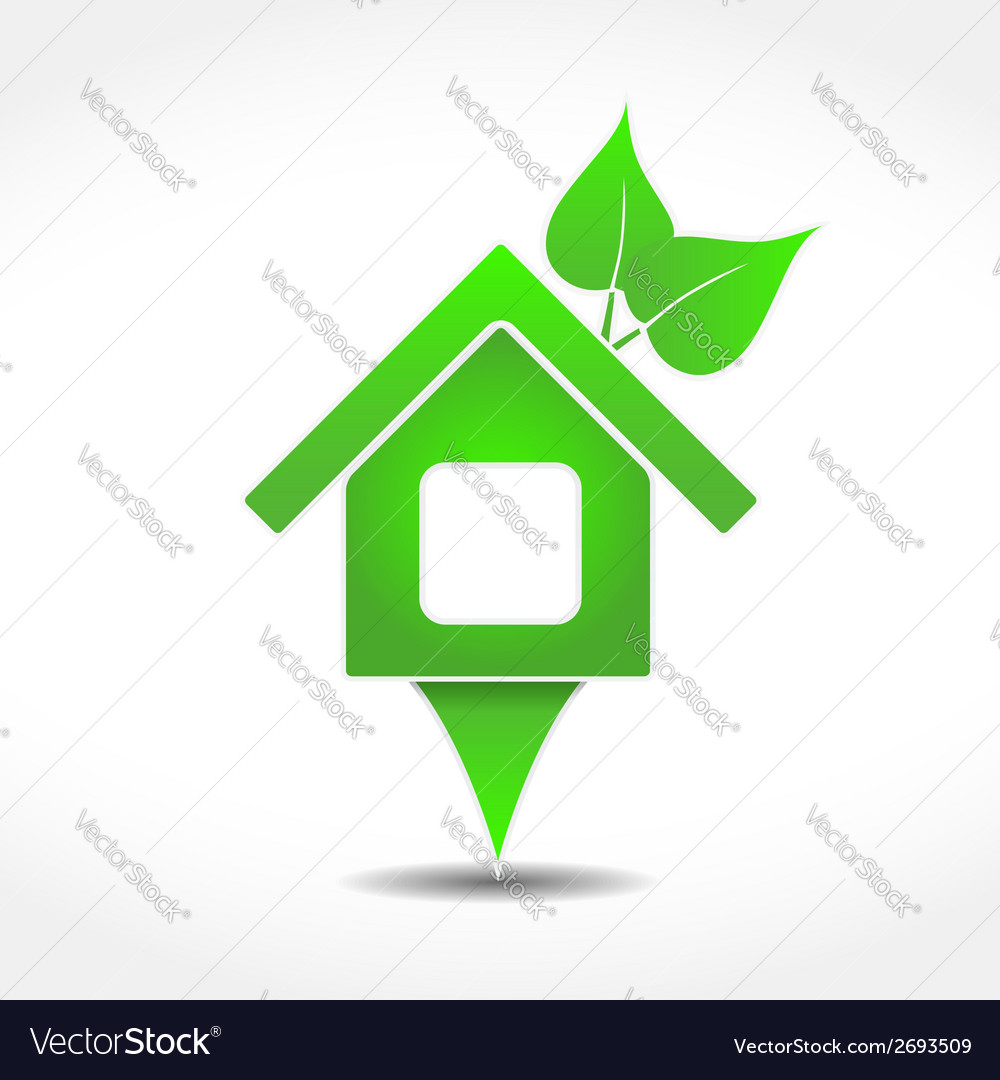 Green house icon vector | Price: 1 Credit (USD $1)