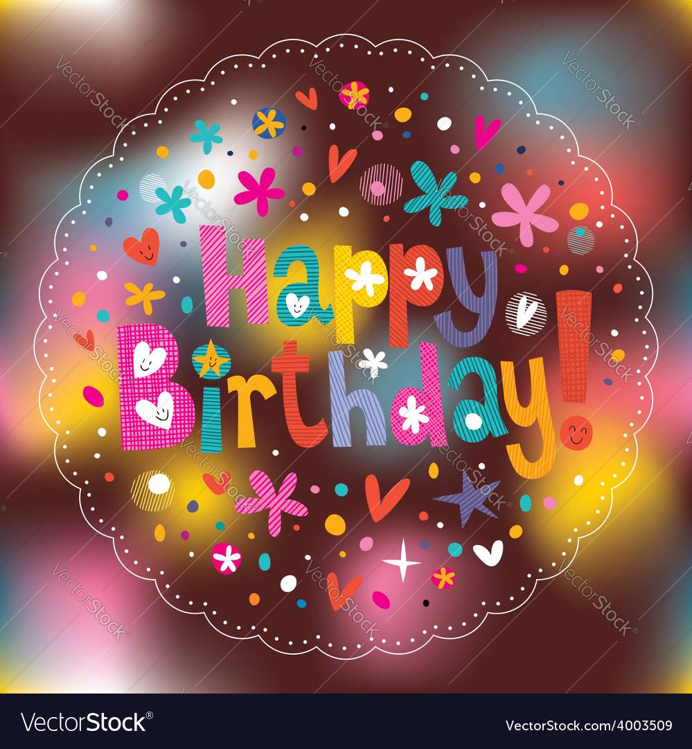 Happy birthday 5 vector | Price: 1 Credit (USD $1)