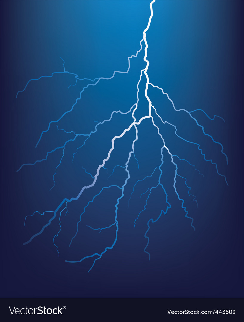 Lightning bolt at night vecto vector | Price: 1 Credit (USD $1)