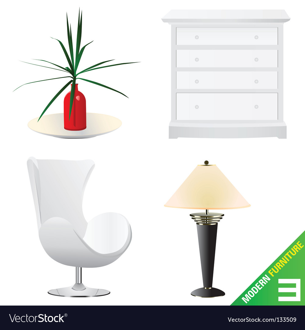 Modern furniture vector | Price: 1 Credit (USD $1)