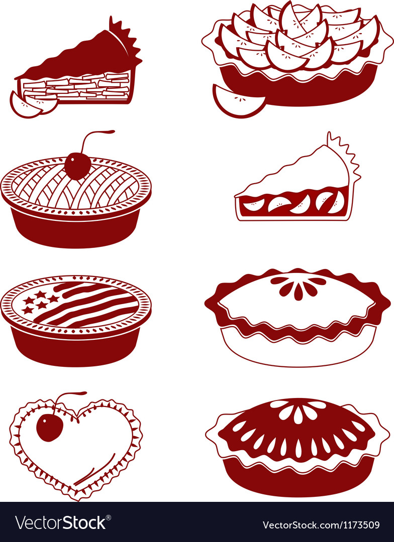 Pies and tarts vector | Price: 1 Credit (USD $1)