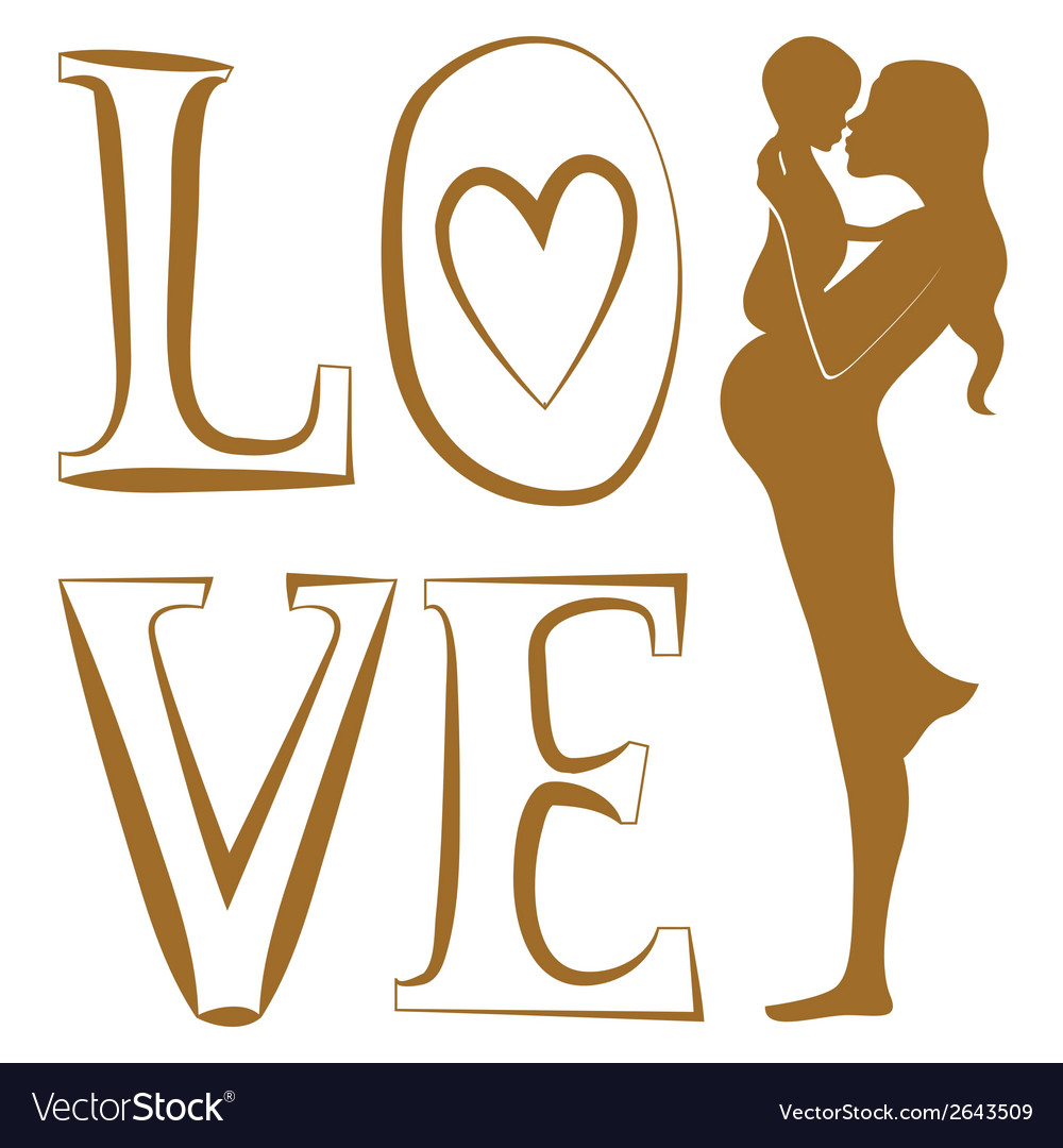 Pure love print vector | Price: 1 Credit (USD $1)