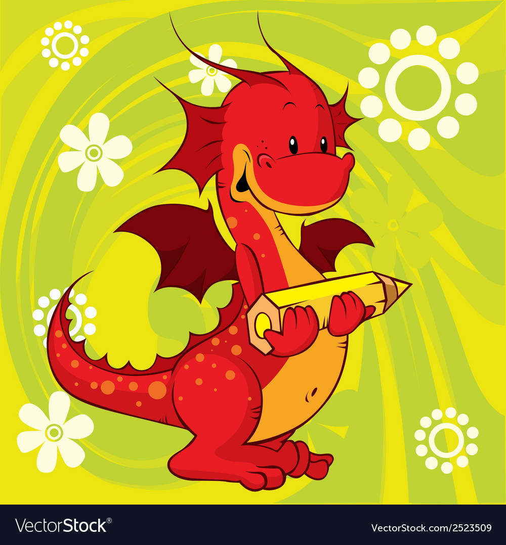 Red dragon vector | Price: 1 Credit (USD $1)
