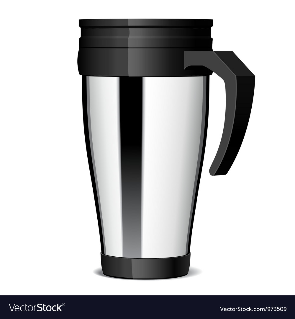 Shiny metal travel thermo-cup vector | Price: 3 Credit (USD $3)