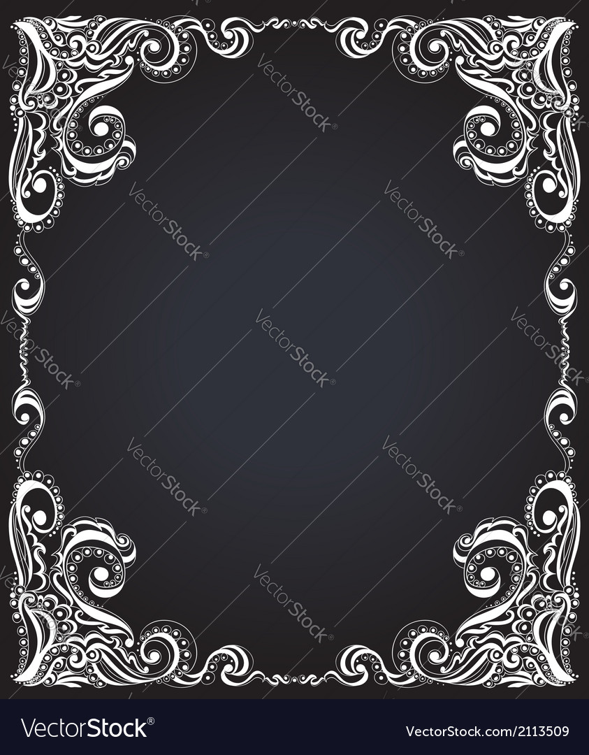 Template frame design for card floral pattern vector | Price: 1 Credit (USD $1)