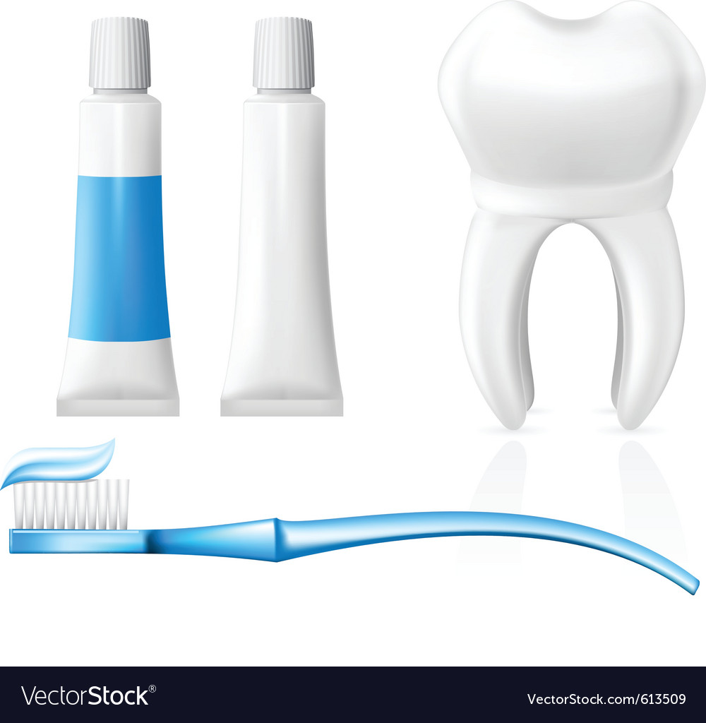 Tooth and dental hygiene equipment vector | Price: 3 Credit (USD $3)