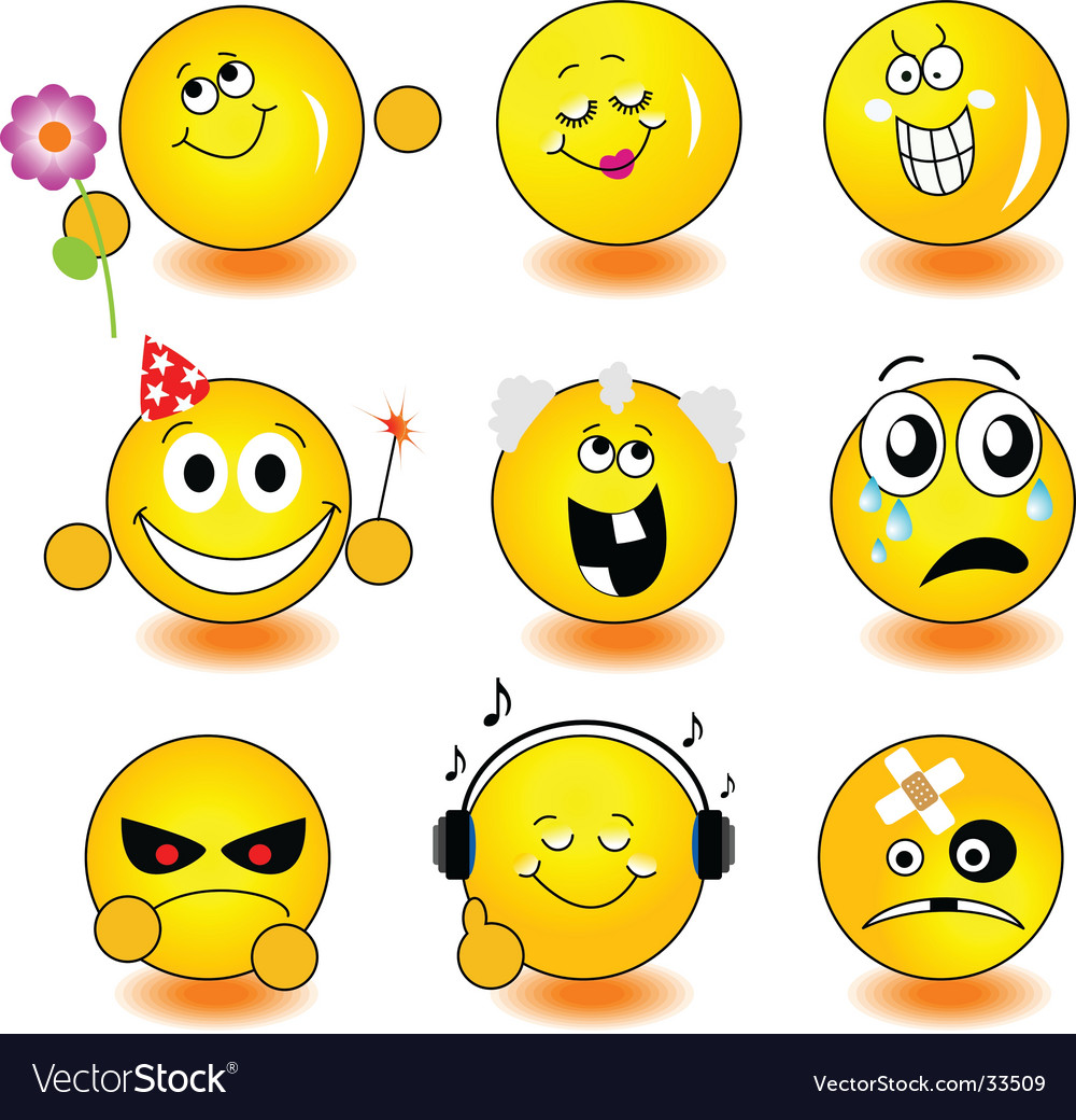 Yellow smileys vector | Price: 1 Credit (USD $1)
