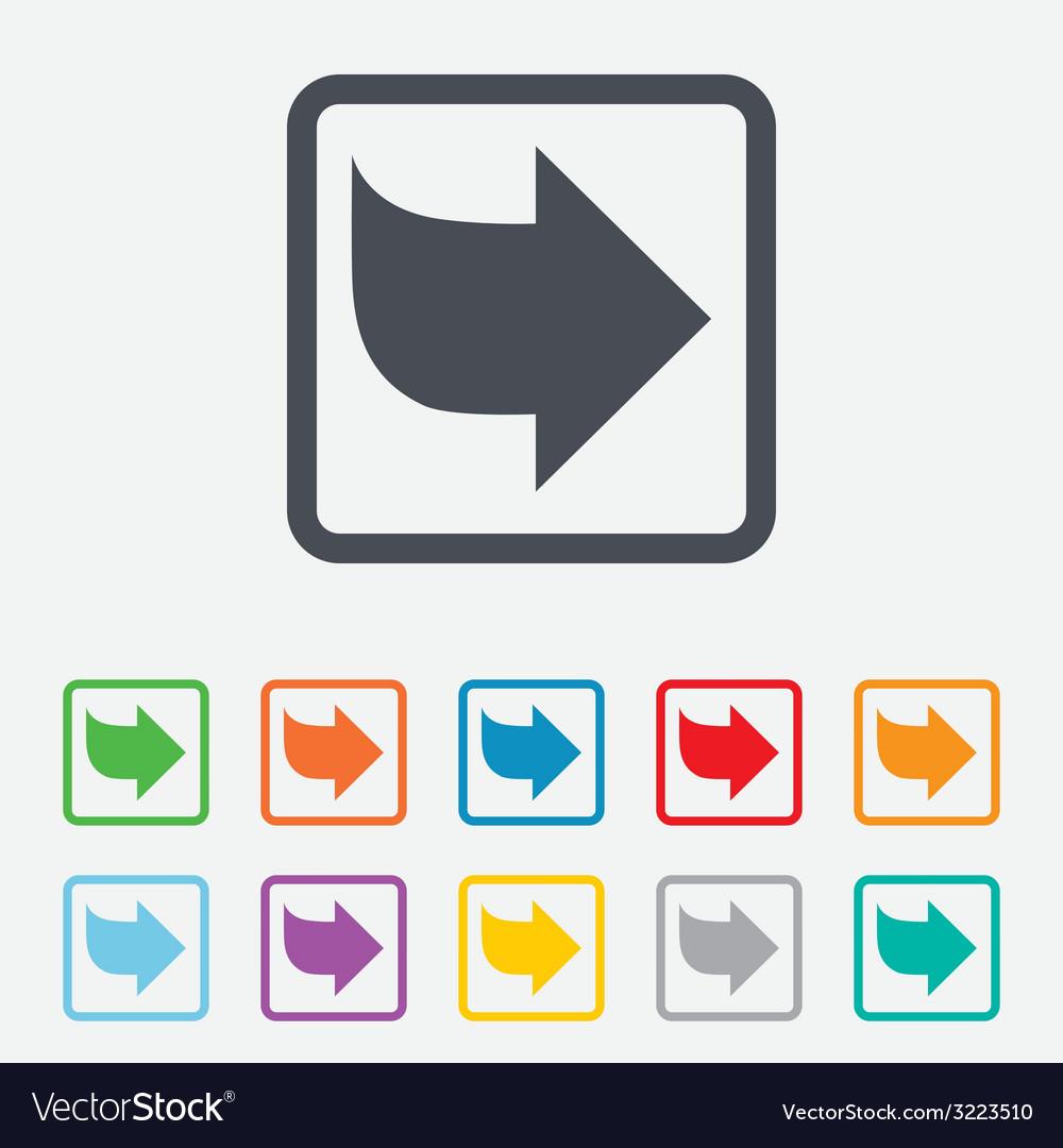 Arrow sign icon next button navigation symbol vector | Price: 1 Credit (USD $1)