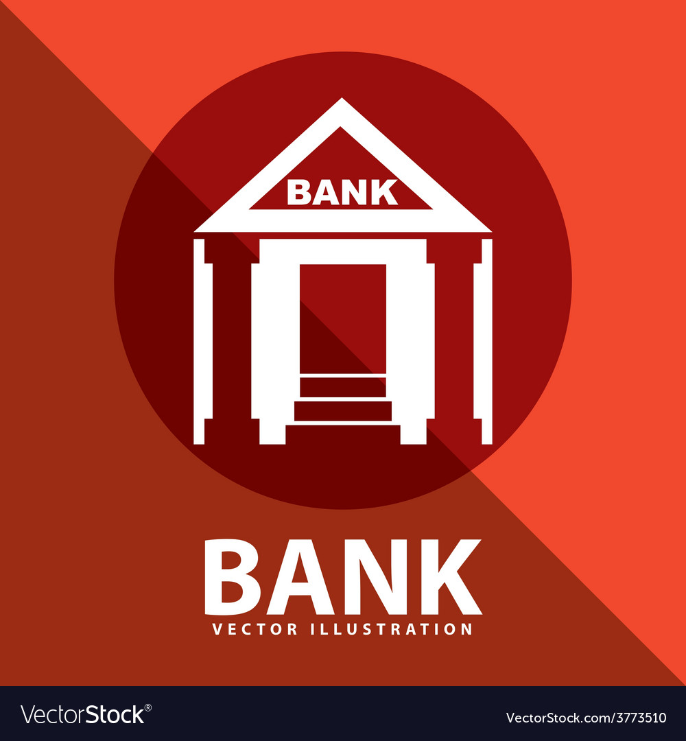Bank building vector | Price: 1 Credit (USD $1)