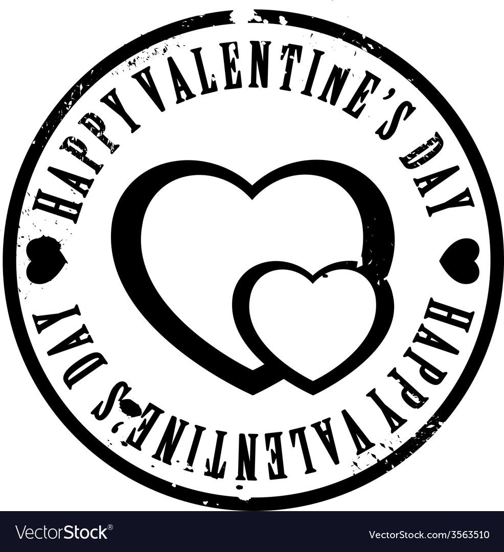 Black valentine stamp vector | Price: 1 Credit (USD $1)