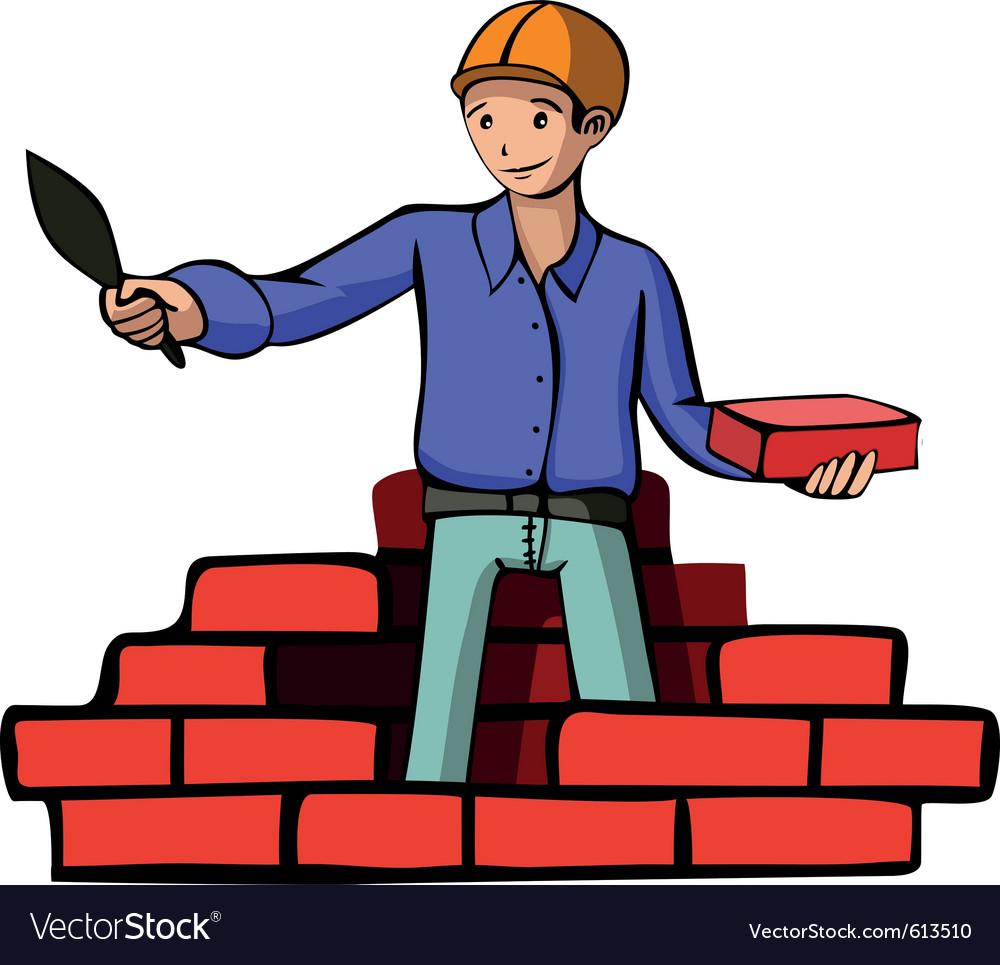 Brick builder vector | Price: 3 Credit (USD $3)