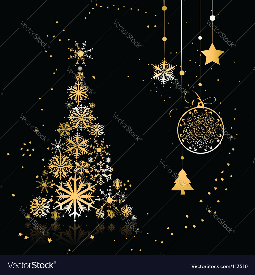 Christmas tree beautiful vector | Price: 1 Credit (USD $1)