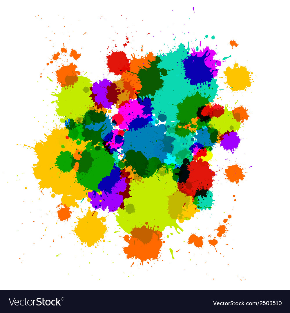 Colorful transparent stains blots splashes vector | Price: 1 Credit (USD $1)
