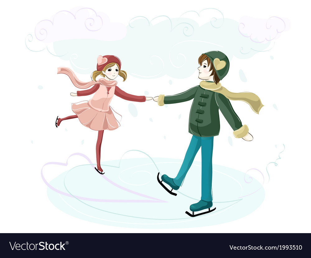 Couple on the rink vector | Price: 1 Credit (USD $1)