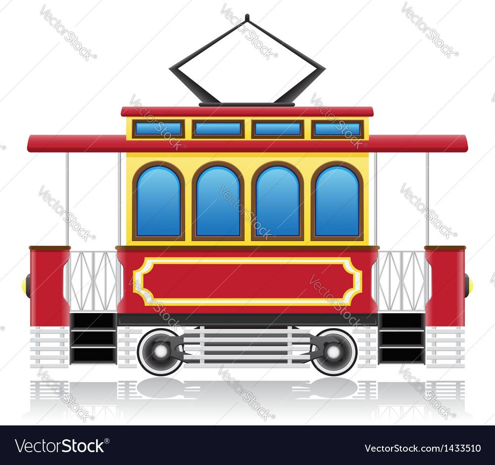 Old retro tram vector | Price: 1 Credit (USD $1)