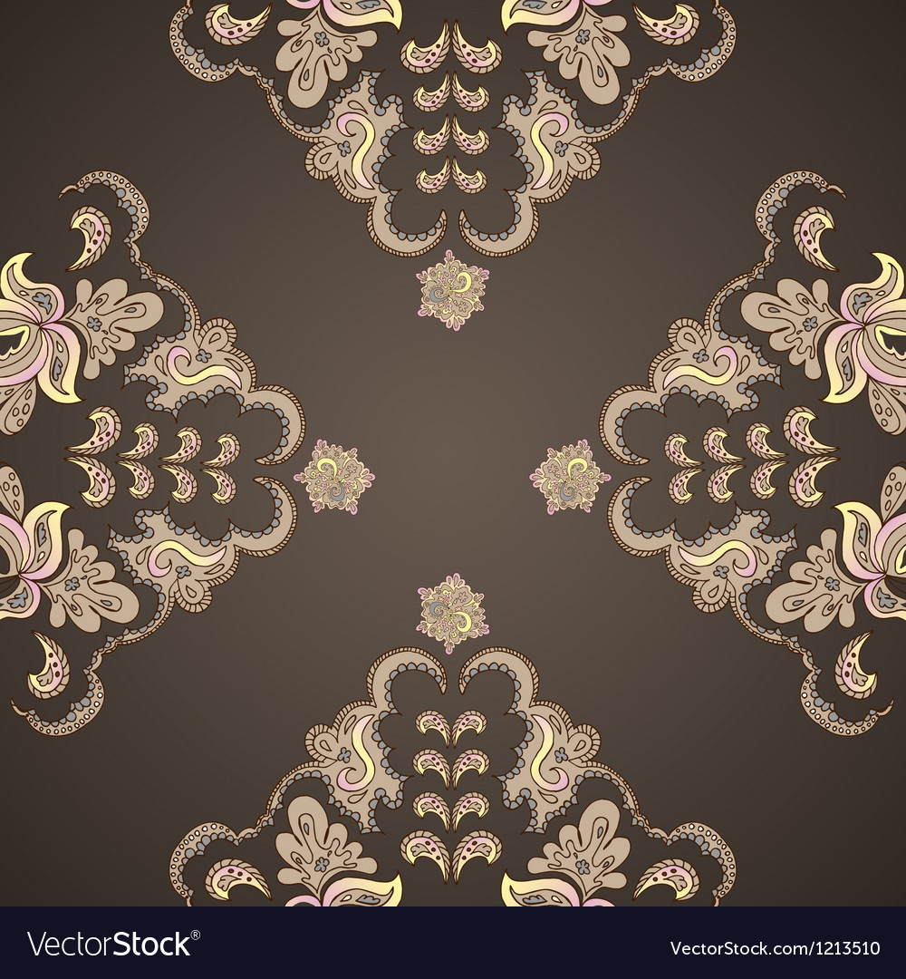 Ornamental round vintage pattern vector | Price: 1 Credit (USD $1)