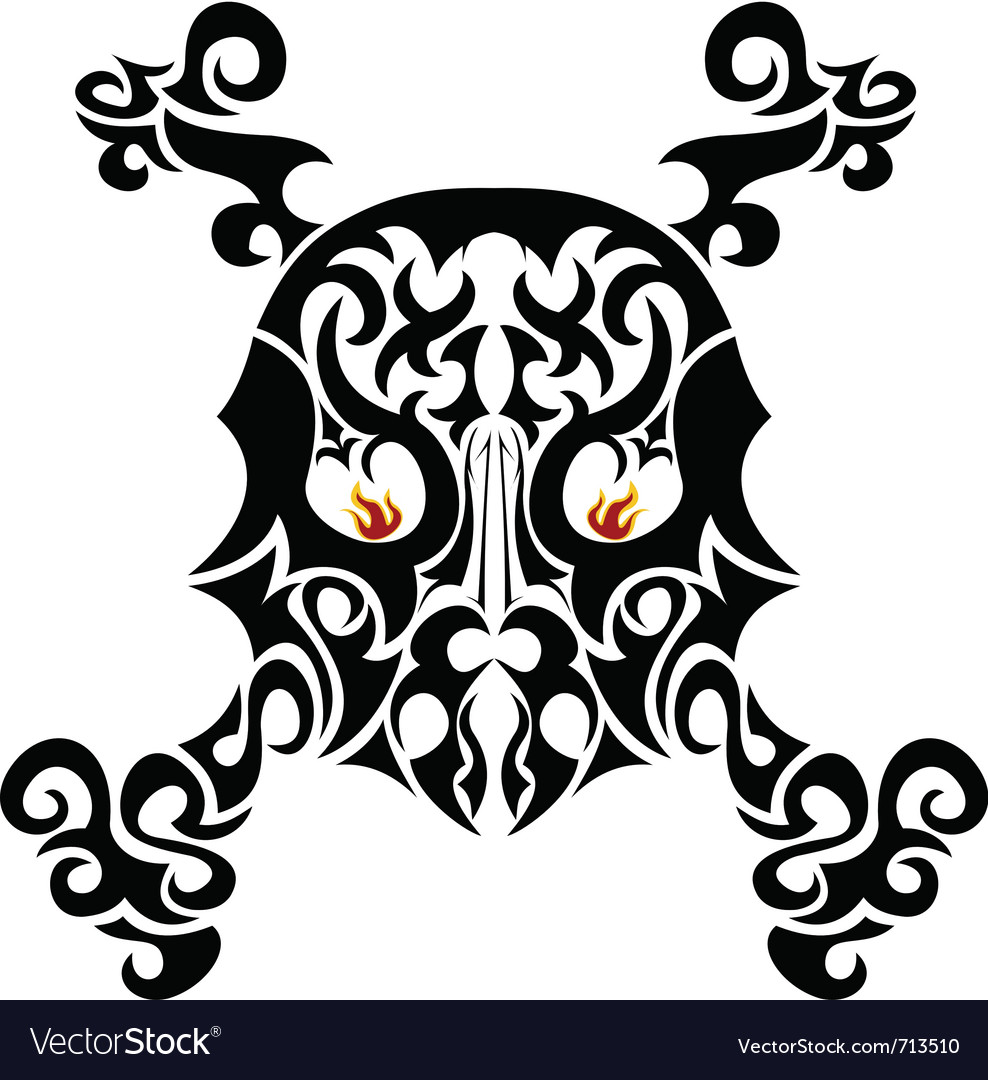 Ornate skull vector | Price: 1 Credit (USD $1)