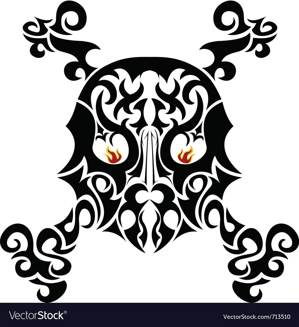 Ornate skull vector | Price: 1 Credit (USD $1)
