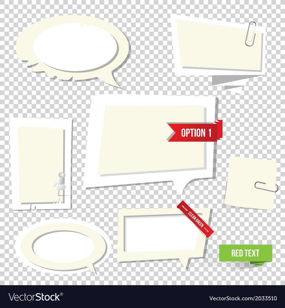 Paper text bubbles note vector | Price: 1 Credit (USD $1)