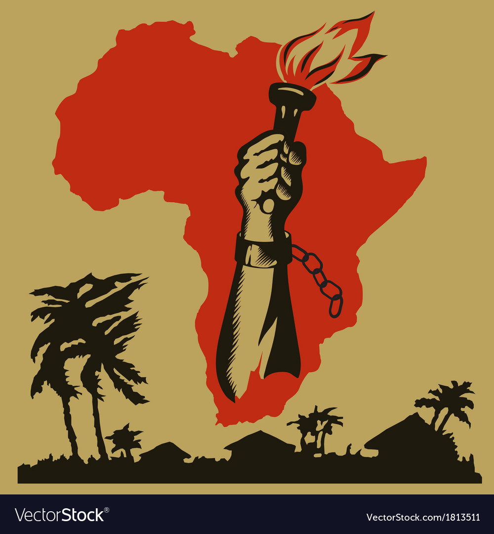Africa is fighting for freedom vector