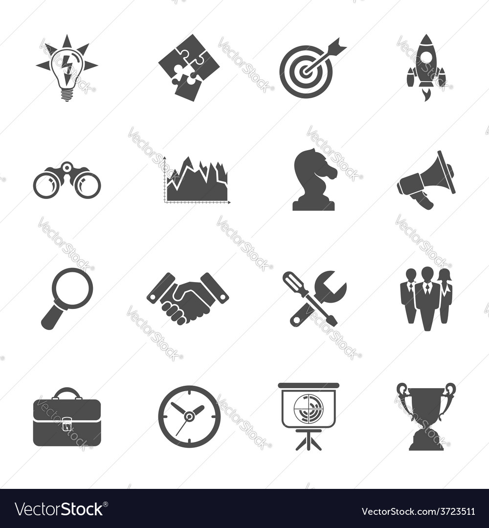 Business strategy icon set vector | Price: 1 Credit (USD $1)