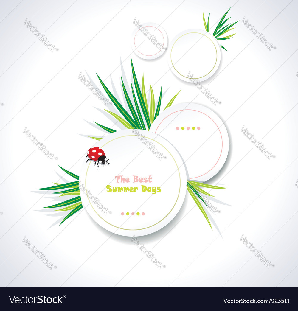 Clean summer stickers vector | Price: 1 Credit (USD $1)