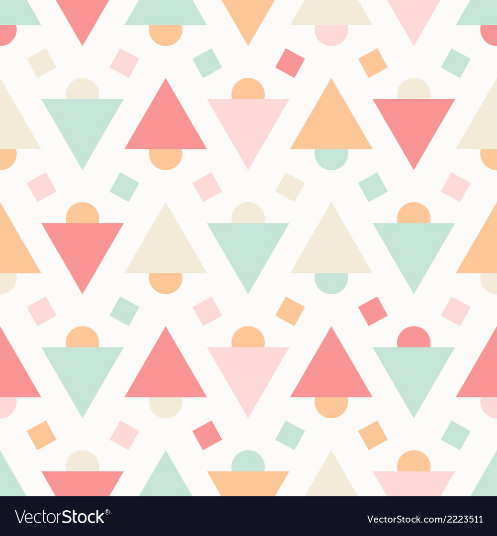 Geometric abstract pastel seamless pattern vector | Price: 1 Credit (USD $1)