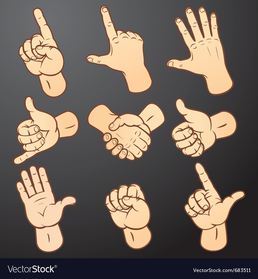 Hand signals vector | Price: 1 Credit (USD $1)