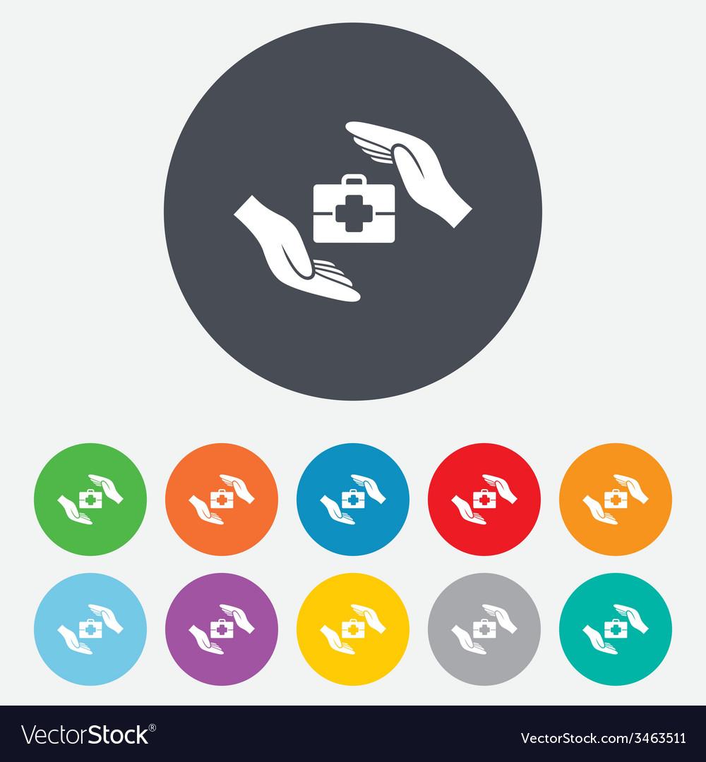 Medical insurance sign health insurance symbol vector | Price: 1 Credit (USD $1)