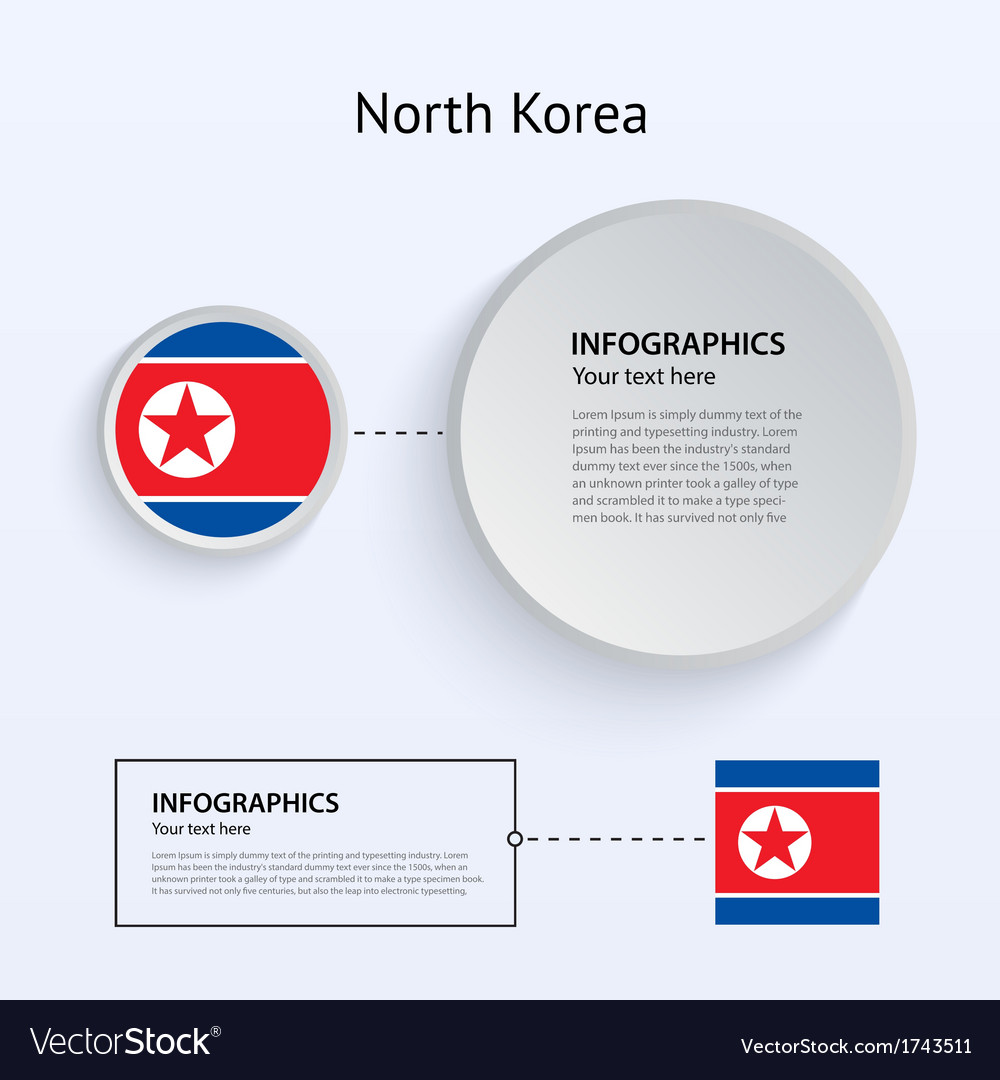 North korea country set of banners vector | Price: 1 Credit (USD $1)