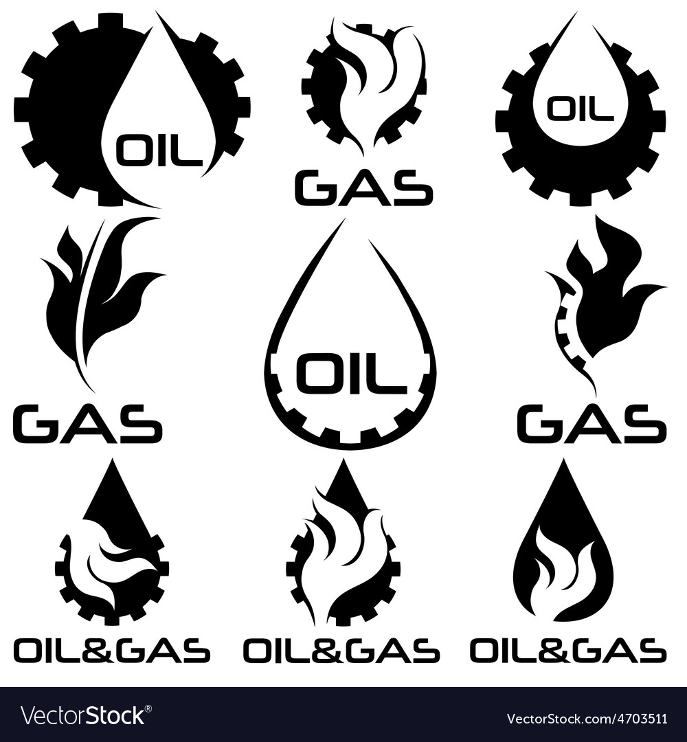 Oil and gas industry design elements set vector | Price: 1 Credit (USD $1)
