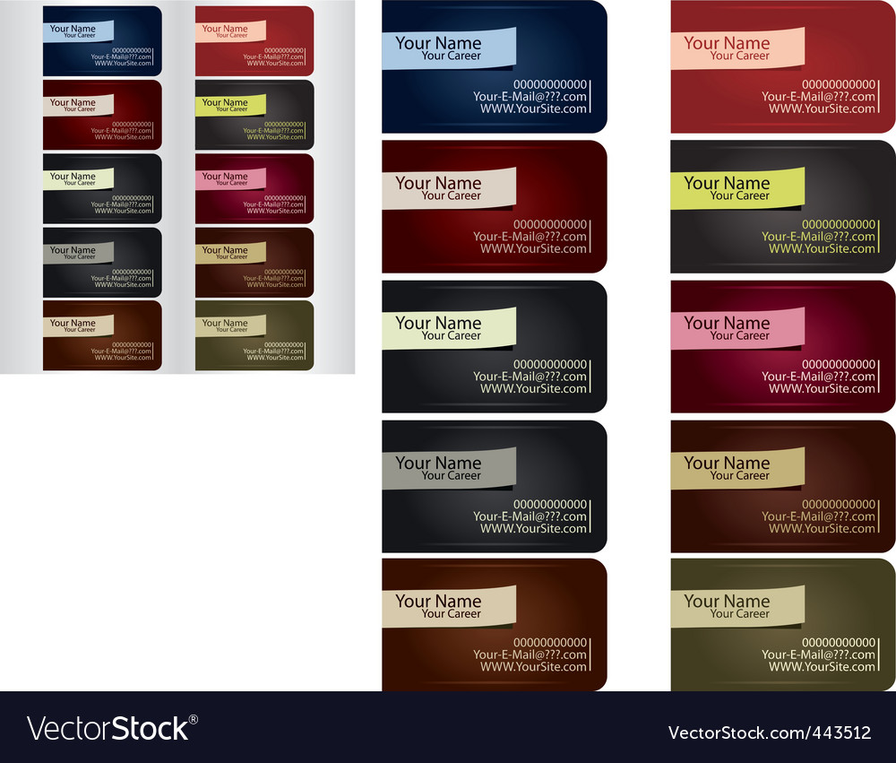 Business card template set 1 vector | Price: 1 Credit (USD $1)