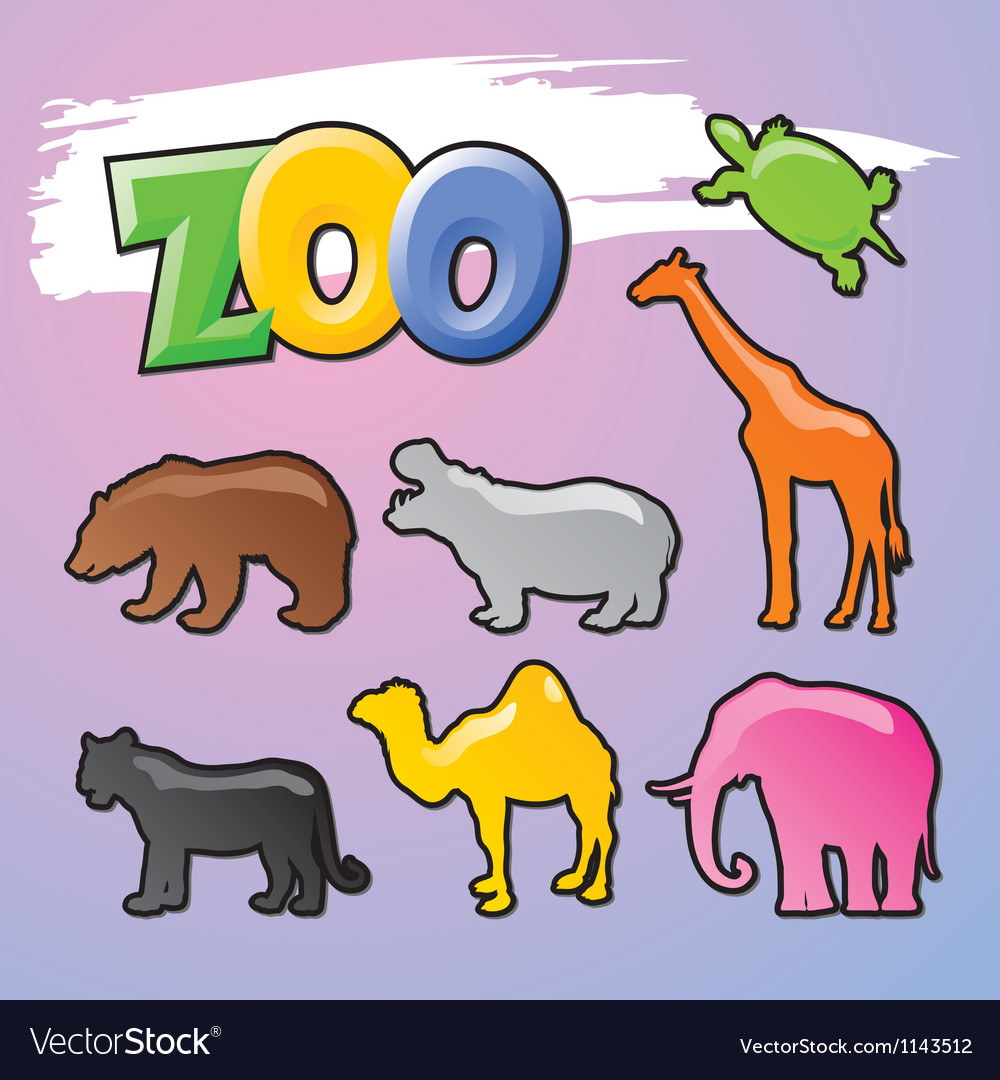Color zoo vector | Price: 1 Credit (USD $1)