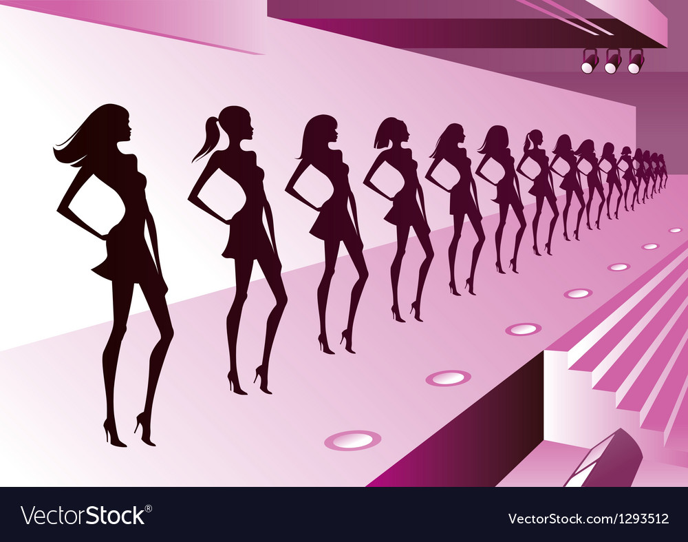 Fashion models represent new clothes on review vector | Price: 1 Credit (USD $1)