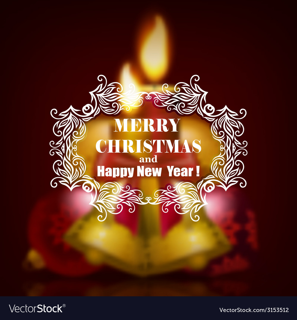 Festive christmas blurred background vector | Price: 1 Credit (USD $1)