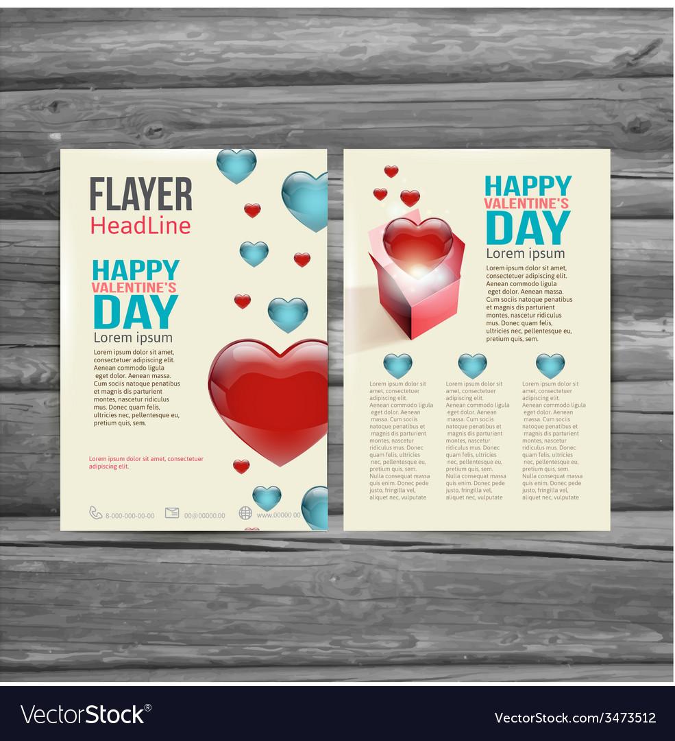 Holiday brochure flyer design template vector | Price: 1 Credit (USD $1)