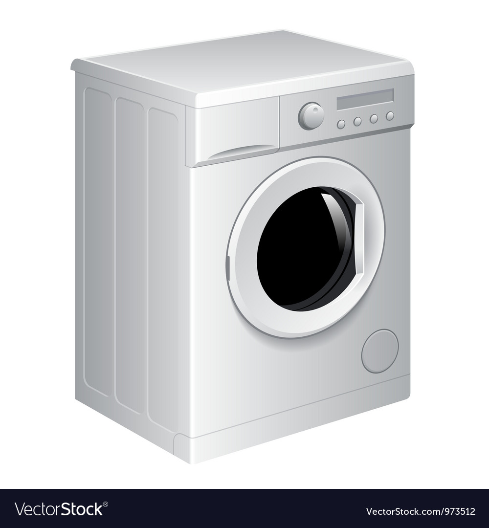 Realistic washing machine vector | Price: 3 Credit (USD $3)