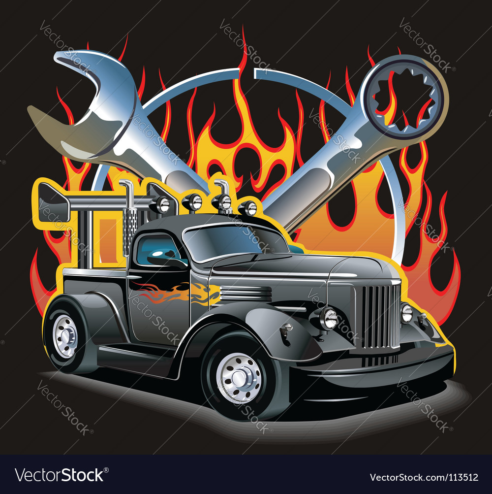 Retro hotrod vector | Price: 5 Credit (USD $5)