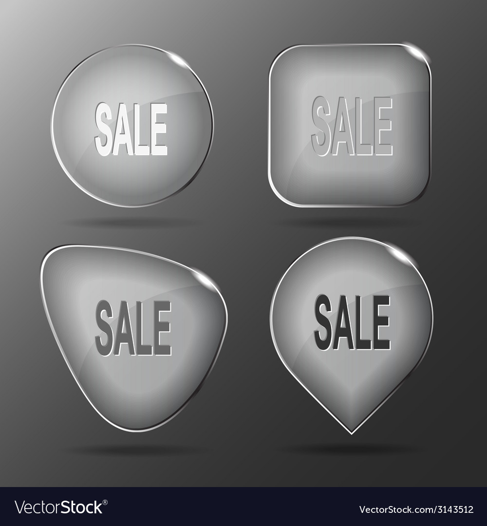 Sale glass buttons vector | Price: 1 Credit (USD $1)
