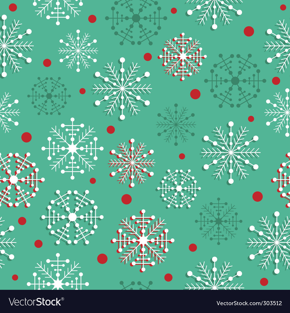 Seamless snowflakes vector | Price: 1 Credit (USD $1)